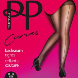 Large size seamed tights