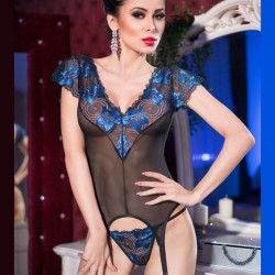 Blue lace corset CR-4197 Chilirose wholesaler DBH Creations