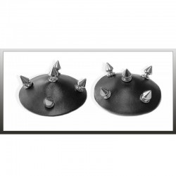 Black leather nipples CR-4208 Chilirose wholesaler DBH Creations