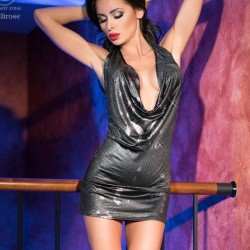 Sexy silver dress CR-4180 Chilirose wholesaler DBH Creations