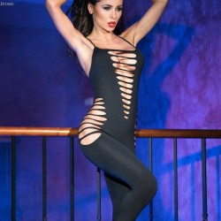Black bodystocking CR-3655 Chilirose wholesaler DBH Creations