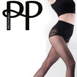 Collants noirs amincissants avec culotte fantaisie PNAVS9 Pretty Polly grossiste DBH Creations