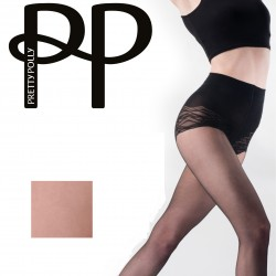 Collants naturels amincissants avec culotte fantaisie PNAVS9 Pretty Polly grossiste DBH Creations