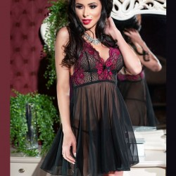 Pink lace babydoll CR-4214 Chilirose wholesaler DBH Creations