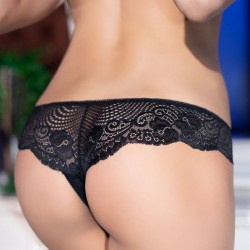 Black lace open crotch shorty CR-4216 Chilirose wholesaler DBH Creations