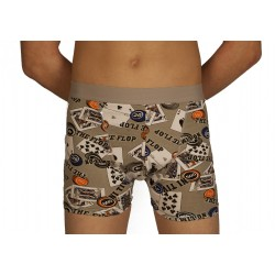 Boxer poker gris grossiste DBH Créations