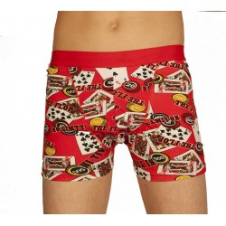 Boxer poker rouge grossiste DBH Créations