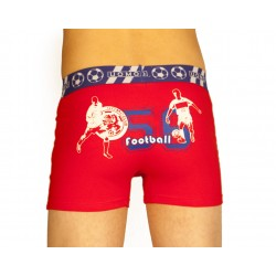 Boxer football rouge