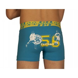 Boxer football bleu turquoise grossiste DBH Créations