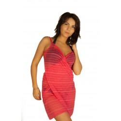 Raspberry pareo dress wholesaler DBH Créations