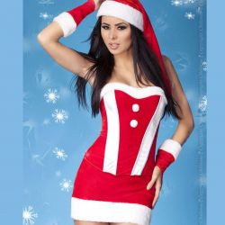 Christmas corset and skirt CR-3719 Chilirose wholesaler DBH Creations