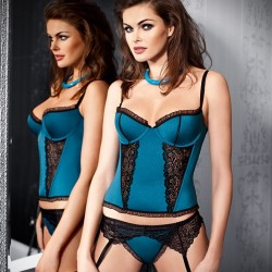 Azure Beauty Corset Tessoro wholesaler DBH Créations