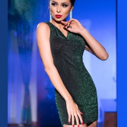 Green sexy dress CR-4238 Chilirose wholesaler DBH Creations