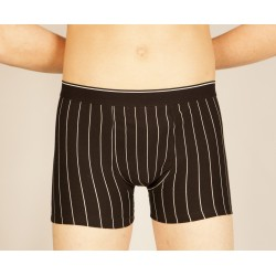 Black boxer with white stripes wholesaler De Bas En Haut Creations