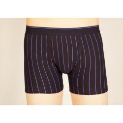 Navy blue boxer with blue stripes wholesaler De Bas En Haut Creations