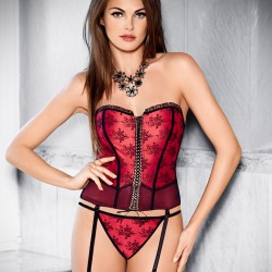 Scarlet Madame Corset Tessoro wholesaler DBH Créations