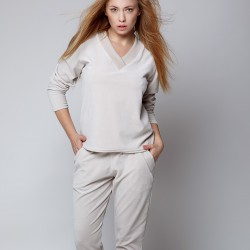 Christine pyjama beige Sensis grossiste DBH Creations