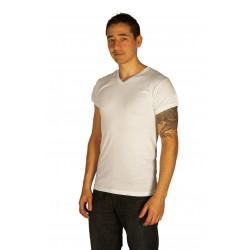 White V-neck tee-shirt wholesaler De Bas En Haut Creations