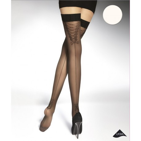 Dahlia white stockings Adrian wholesaler De Bas En Haut Creations