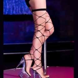 Black sexy fishnet stockings Chilirose CR-4264 wholesaler DBH Créations