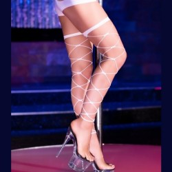 White sexy fishnet stockings CR-4264 wholesaler DBH Creations