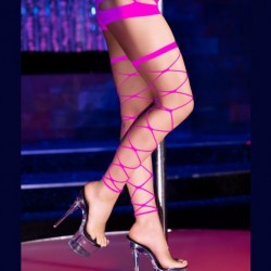 Pink sexy fishnet stockings Chilirose CR-4264 wholesaler DBH Créations