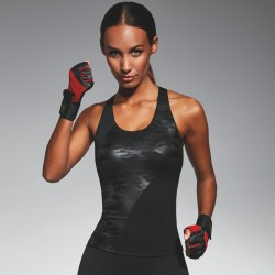 Combat top sport noir Bas Bleu grossiste DBH Créations