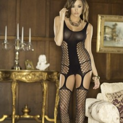 Bodystocking effet porte-jaretelles ICollection grossiste DBH Créations