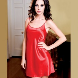 Red satin nighdress