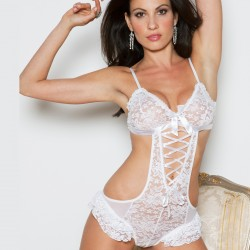 Body lacé blanc ICollection grossiste DBH Créations