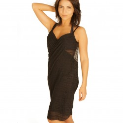 Black pareo dress wholesaler DBH Créations