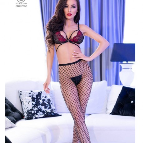 Fishnet tights - 2 pairs set CR-4310 Chilirose wholesaler DBH Créations