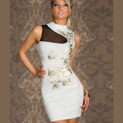 White and gold dress wholesaler De Bas En Haut Creations