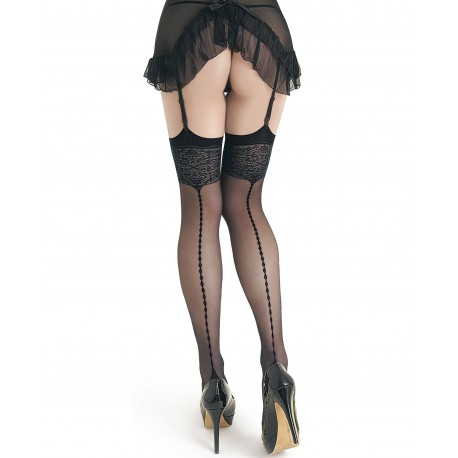 Sonia black seamed stockings LeggStory wholesaler DBH Creations