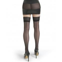 Lola bas couture noir LeggStory grossiste DBH Creations