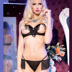 Open bra set with fringes CR-3680 Chilirose wholesaler DBH Creations