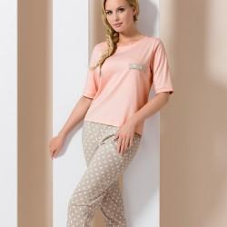 Beige and pink pyjamas
