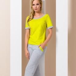 Grey and yellow pyjamas