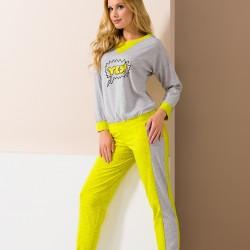Grey and yellow Yes pyjamas
