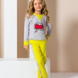 Grey and yellow No junior pyjamas