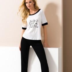 Black and white pyjamas with dog