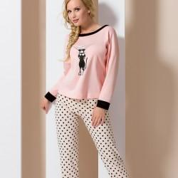 Pink pyjamas with cat