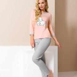 Pink pyjamas with kittens