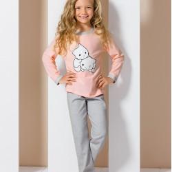 Pyjama junior chatons rose