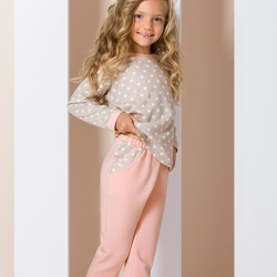 Pink and beige junior pyjamas with stars