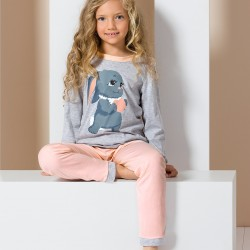 Grey junior pyjamas with rabbit