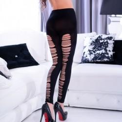 Black torn leggings