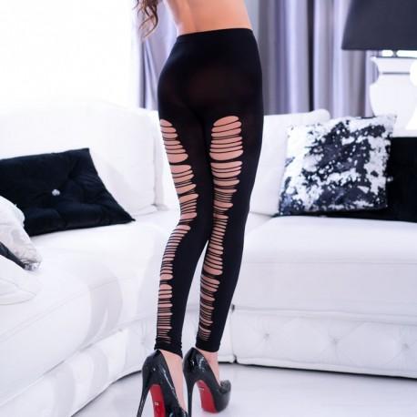 Black torn leggings CR-4327 Chilirose wholesaler DBH Créations