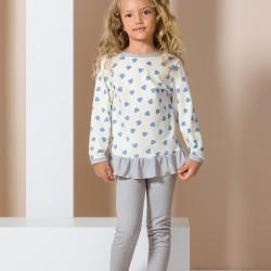 Pyjama junior coeur bleu
