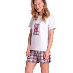 Pyjama short à carreaux
